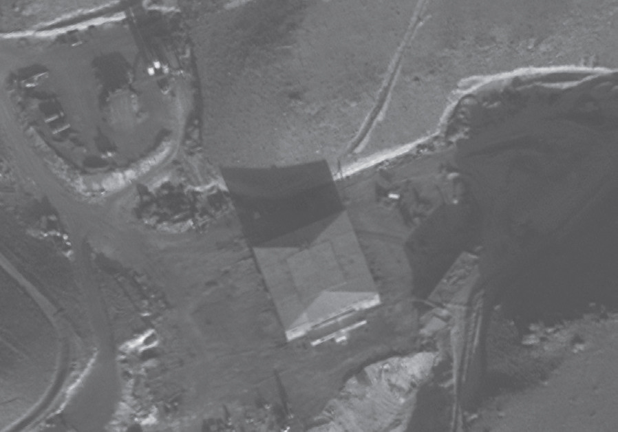 THE SITE of the Syrian nuclear reactor before (below) and after, (right) the IDF strike. (Credit: IDF SPOKESMAN'S UNIT)