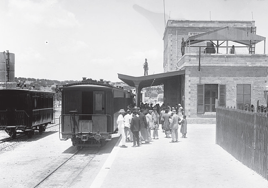 THE RAILWAY station in Jerusalem, 1914. (Credit: Wikimedia Commons)