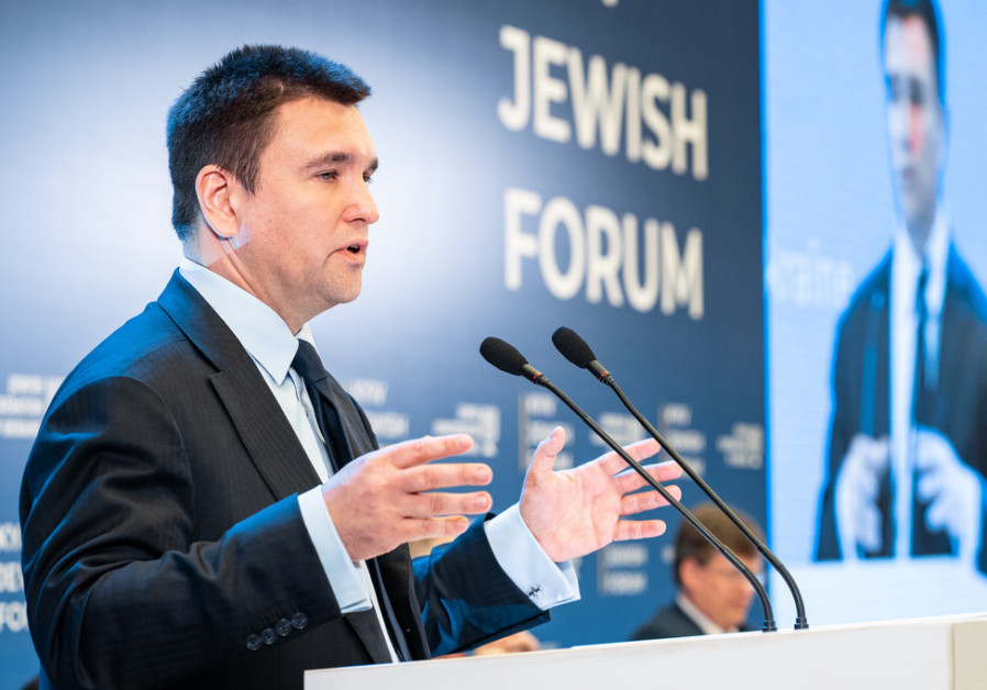 Ukrainian Foreign Minister Pavlo Klimkin at the Kyiv Jewish Forum.