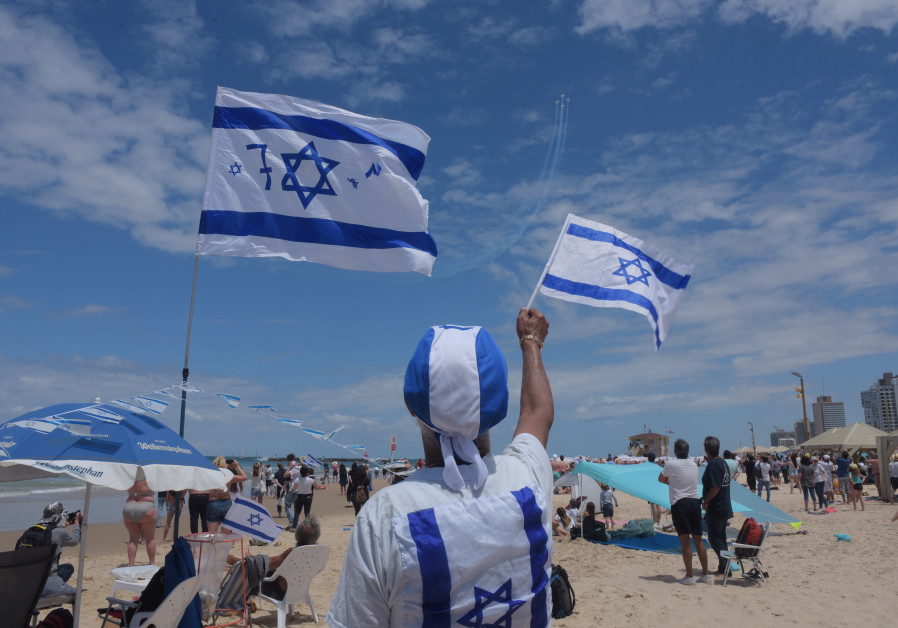 The Israelis celebrate the Independence Day of the Beach, 2019.