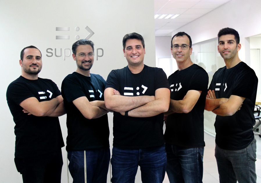 SuperUp CEO Roy Ittah (C) with team members (Credit: PR)