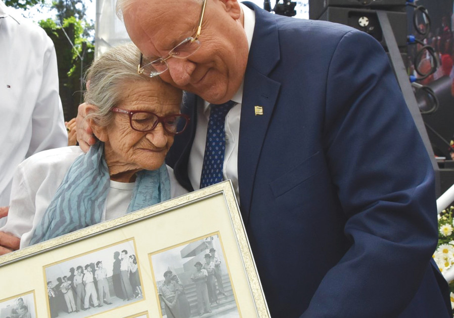 PRESIDENT REUVEN RIVLIN with Naomi Polani on Independence Day 2018