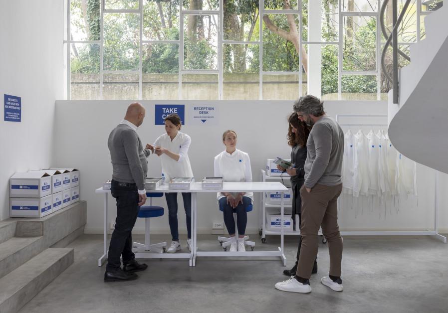 art installation Field Hospital X (FHX) by artist Aya Ben Ron