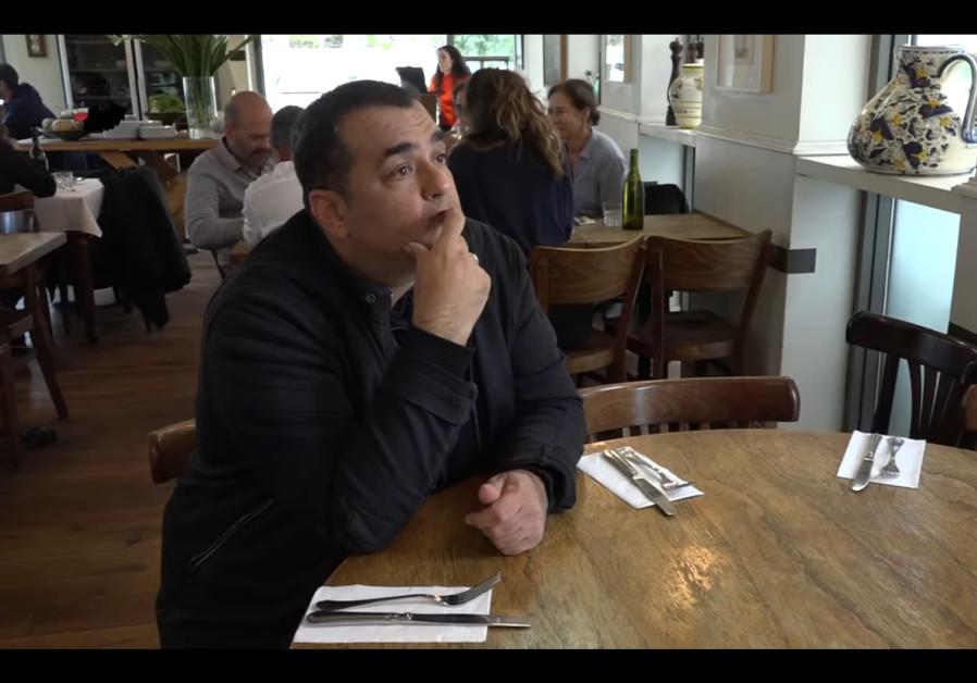 Niv Gilboa at the Republica di Ronimoty restaurant in Tel Aviv