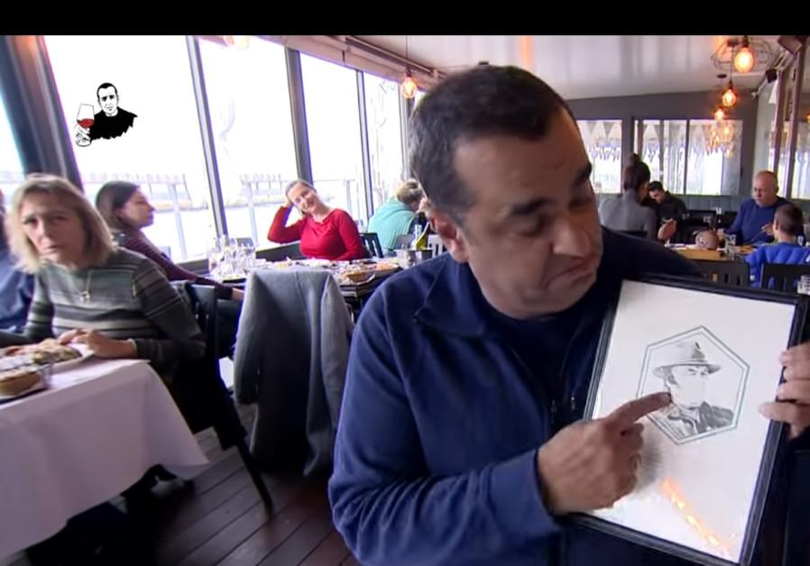 Niv Gilboa at Benny the Fisherman restaurant in Tel Aviv