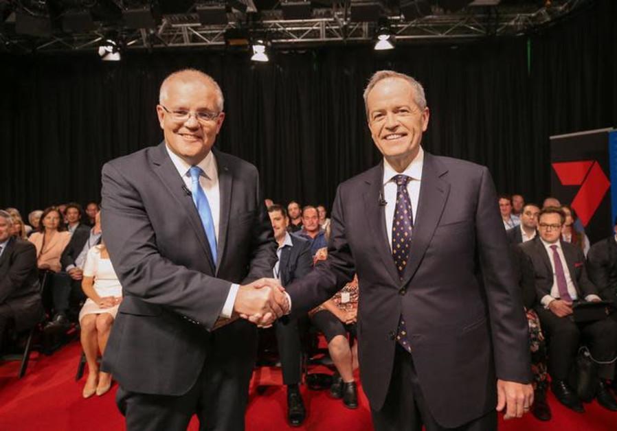 Australian Prime Minister Scott Morrison and Opposition Leader Bill Shorten
