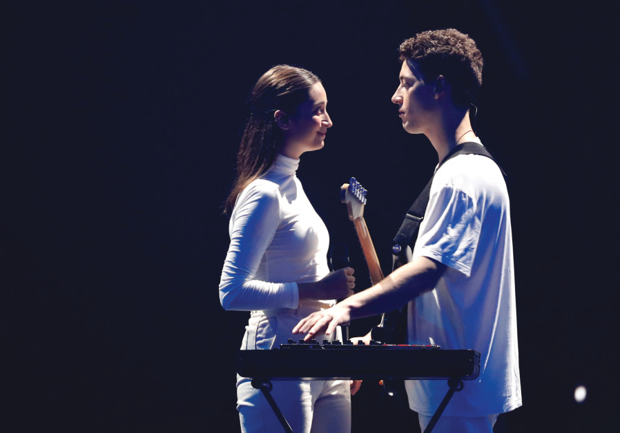 Kralj & Santl of Slovenia perform at a rehearsal ahead of the first semi-final of 2019 Eurovision