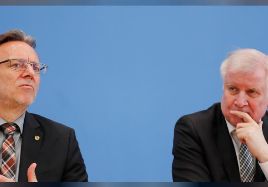 German Federal Interior Minister Horst Seehofer and Holger Muench, Chief Commissioner of Germany's B