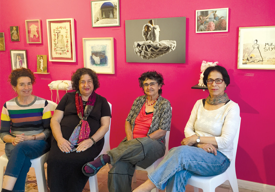 (FROM LEFT) Nomi Tannhauser, co-curator; Abramowitz; Rita Mendes-Flohr, co-curator; and Rina Peled, artist. (Credit: Mayan Hoffman)