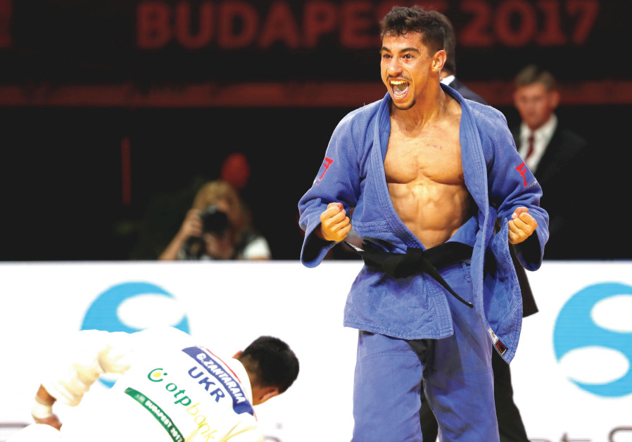 ISRAELI JUDOKAS, such as Tal Flicker (above), have often been treated with hostility when competing