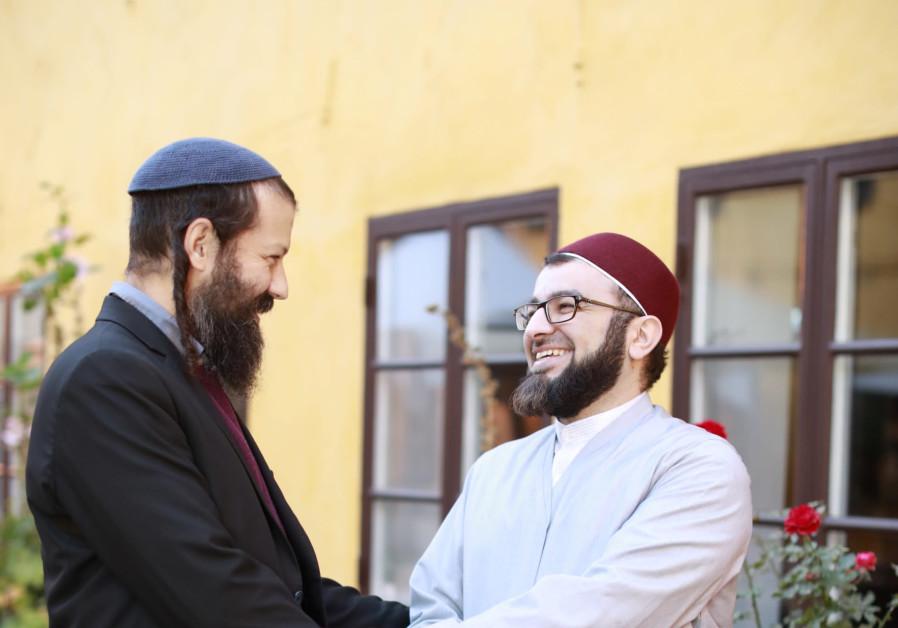 Rabbi Moshe David Hacohen and Imam Salahuddin Barakat in Malmo
