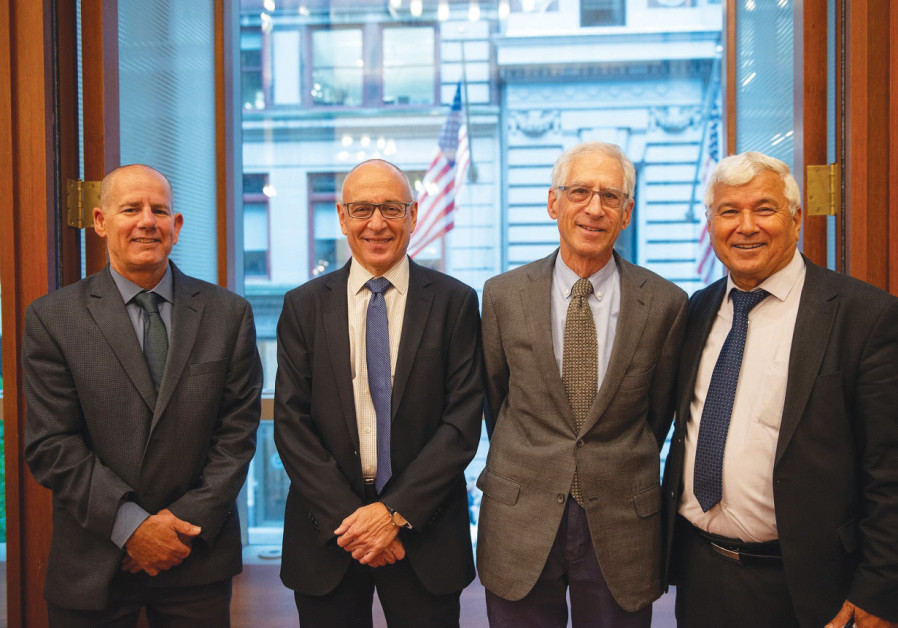The Abraham Initiaives last week announces the establishment of a $12 million endowment fund for the benefit of Jewish-Arab equality organizations. Pictured here: Amnon Be'eri-Sulitzeanu, Orni Petruschka, Howard Sohn, and Thabet Abu Rass. Credit: ALEXIS SILVER