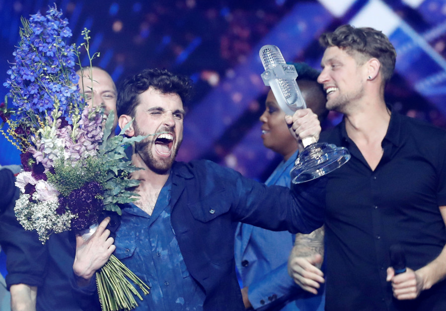 Duncan Laurence of the Netherlands reacts after winning the 2019 Eurovision Song Contest