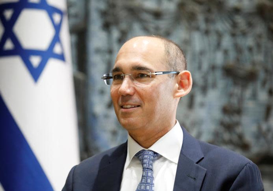 Amir Yaron attends a ceremony whereby he is sworn in as Bank of Israel governor