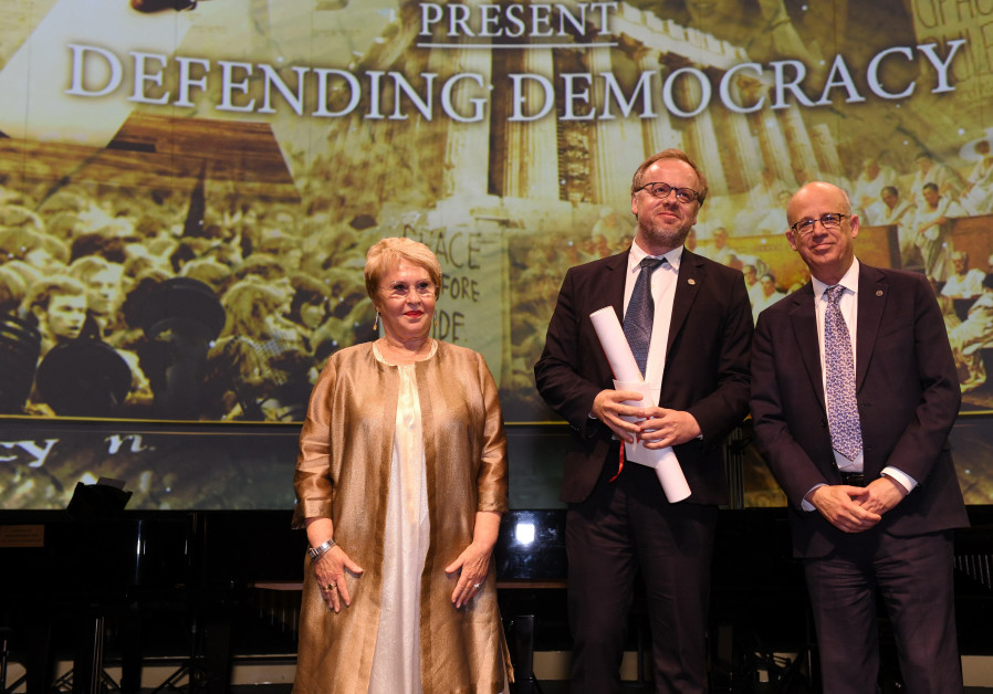 Gabriela David, Christophe Deloire and Prof. Joseph Klafter