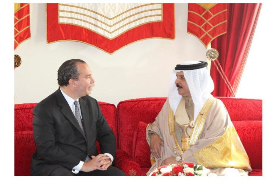 Rabbi Marc Schneier with Bahrain's King Hamad Bin Isa Al Khalifa