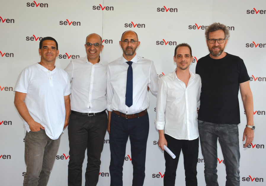YOAV KAPLAN (from left), Benny Halif, Wissam Khavaish, Itay Storch and Ran Steinman at SEVEN's Ramad