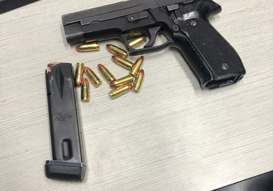 A 9 mm pistol confiscated near Jerusalem