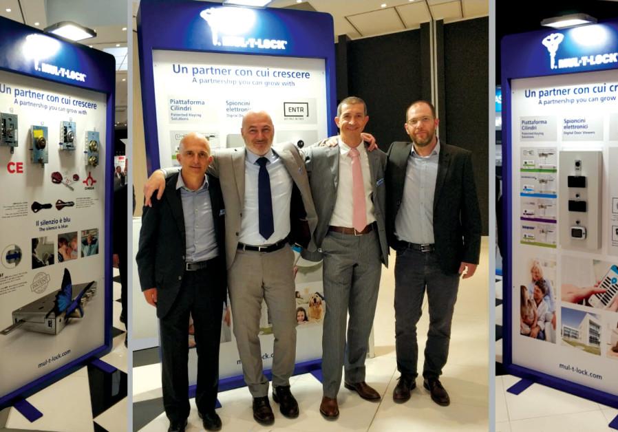 MUL-T-LOCK ITALIA sales team members (from left) Pierluigi Di Tos, Marino Marchioni and Paolo Fantin