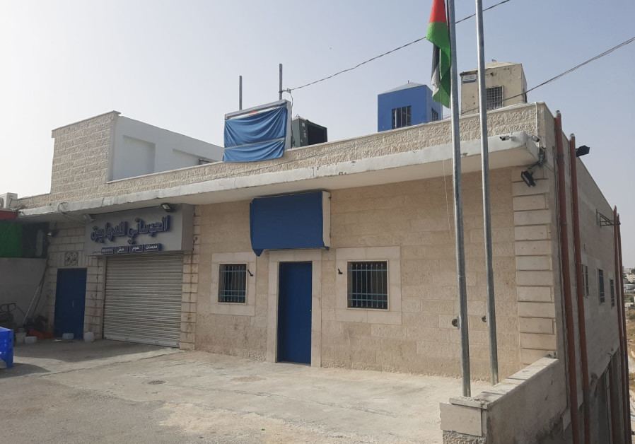 The new Palestinian Authority police station near Ma'aleh Adomim