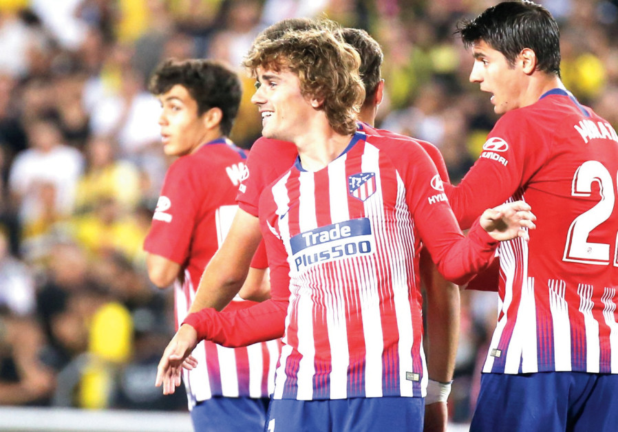 Antoine Griezmann and Atletico Madrid seem excited to be in Israel.