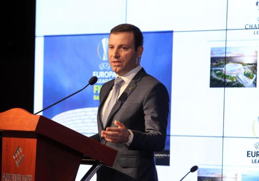 Elkhan Mammadov, general secretary of the Azerbaijan Football Association. (AZERTAC)