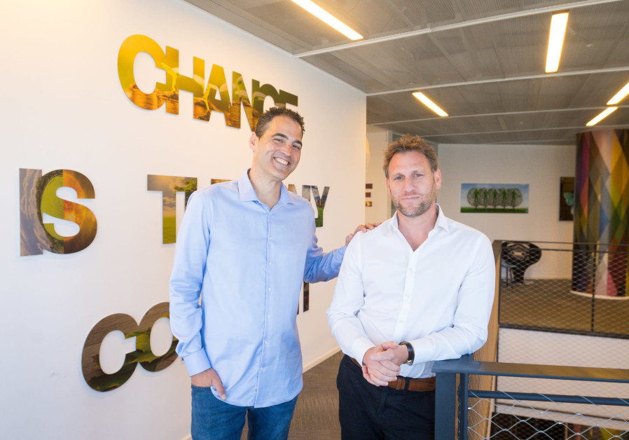 Investing.com co-CEOs Shlomi Biger (L) and Mickey Winitsky