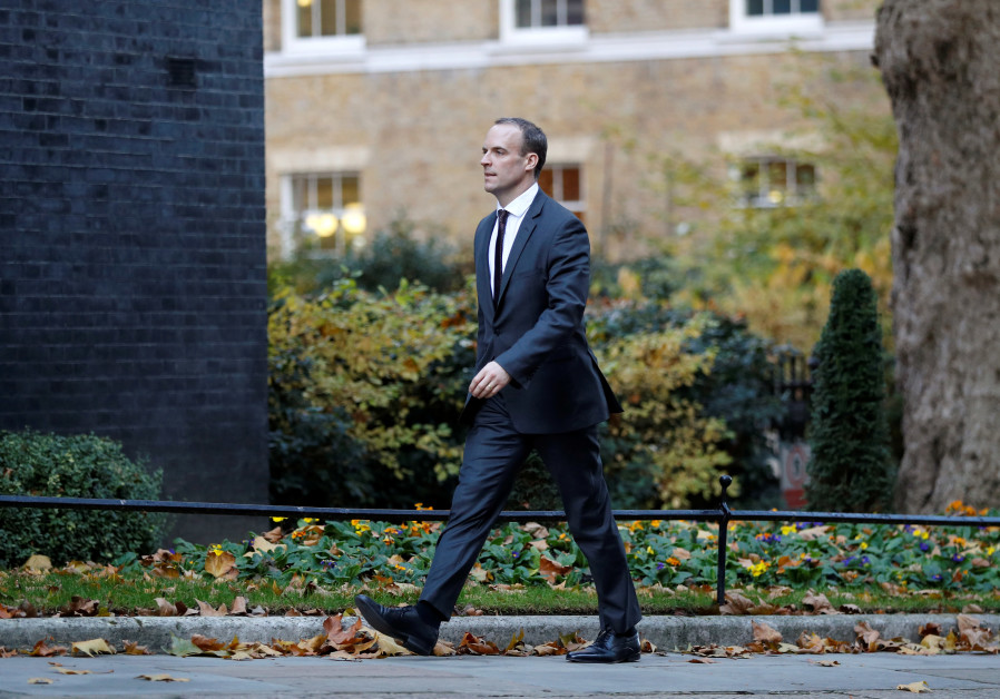 What are Dominic Raab's views on the Israeli-Palestinian conflict?