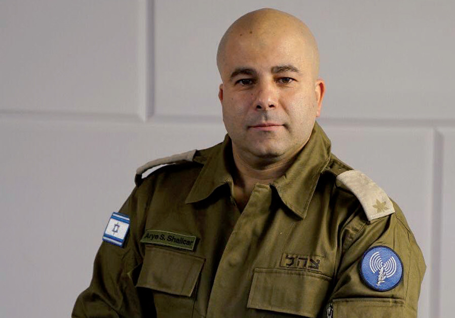 Shalicar in uniform while working for the IDF Spokesperson's Office