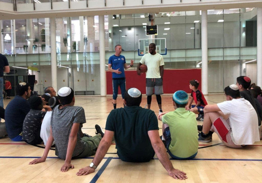 At-risk Israeli youth meet NBA star, attend special basketball camp