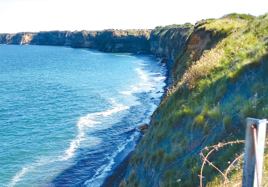 THE AMERICAN Second Ranger Battalion was tasked with taking out the artillery positions held by the Germans at Pointe du Hoc – requiring them to scale its 100-foot cliffs. (Credit: BRIAN JABLON)