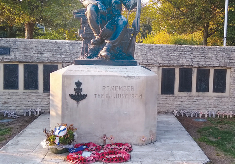 A MONUMENT to the sixth and seventh battalions of the Green Howards, the British regiment that liberated the town of Crépon on D-Day. (Credit: BRIAN JABLON)