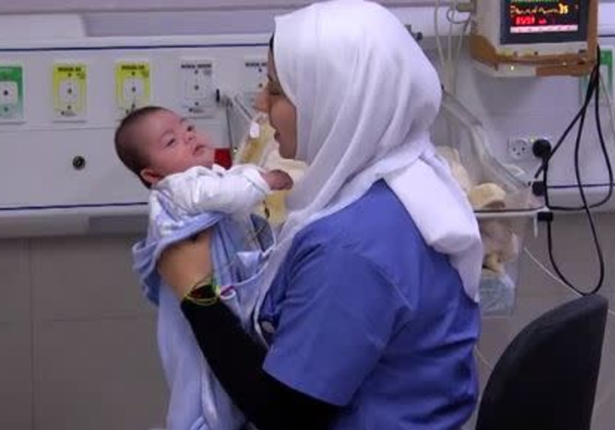 Baby and mother from Gaza Strip are reunited in Israel.