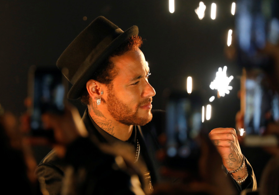 """Soccer star Neymar attends the launch of his new Diesel perfume fragrance """"Spirit Of The Brave"""" at a"""
