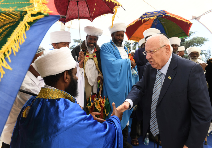 President Rivlin spoke at the official memorial ceremony in memory of the Ethiopian Jews who perishe