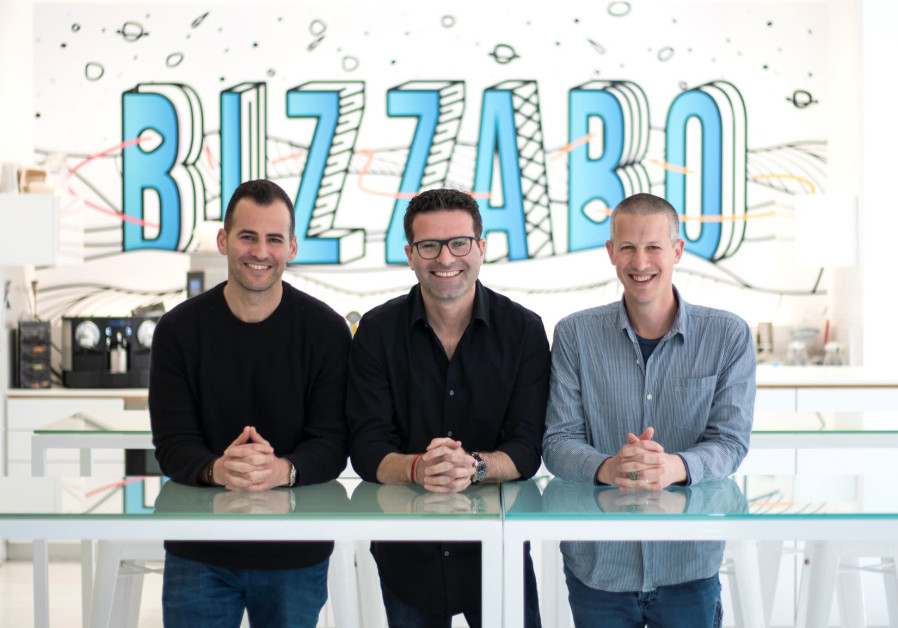 Bizzabo co-founders Alon Alroy (L), Eran Ben-Shushan (C) and Boaz Katz (R)