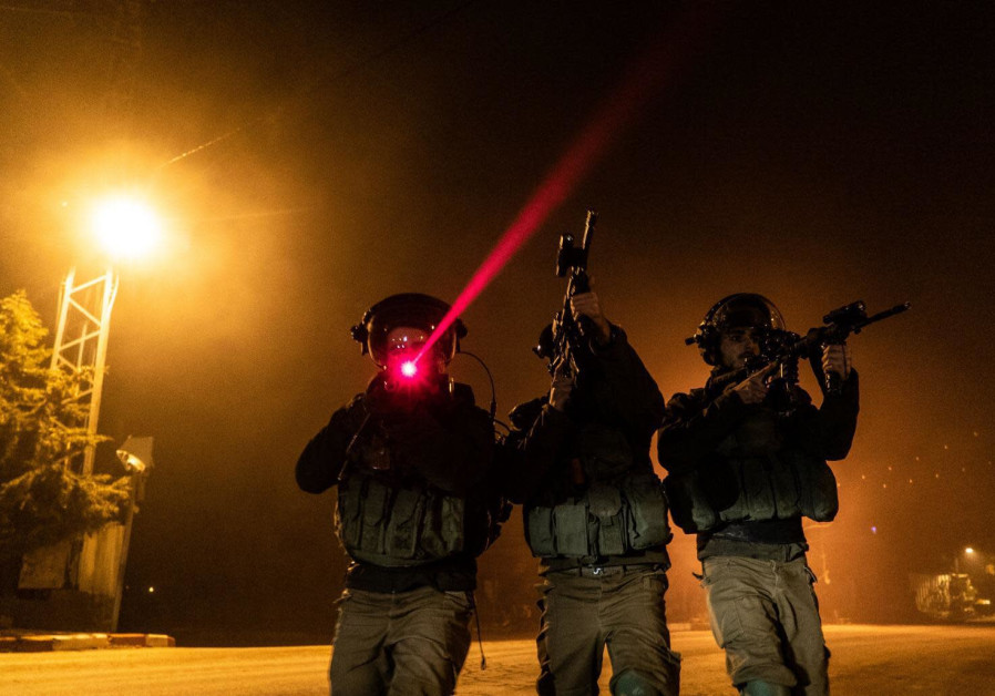 IDF soldiers patrol in the West Bank
