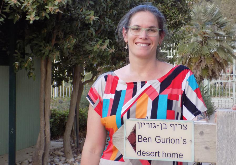 EFRAT LEDERFEIN-GILBOA at Ben-Gurion's desert home. (Credit: ANAV SILVERMAN PERETZ)