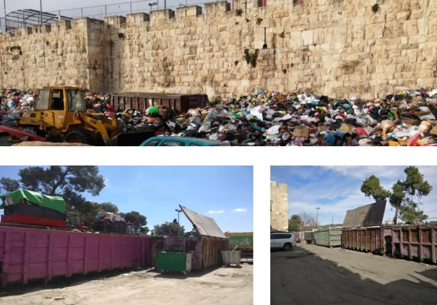 Garbage dump located until recently on the northeast corner of the Old City, not far from the Temple Mount, Jerusalem. (photo credit: Courtesy)