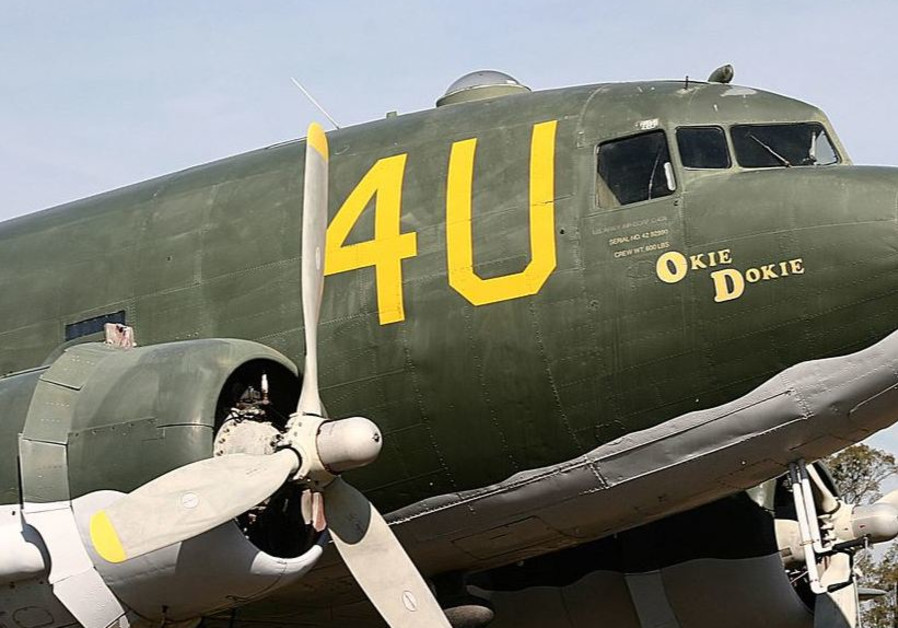 The C47 (DC3 or C47 - The workhorse (aka DC3 or Dakota) after restoration.) after restoration.