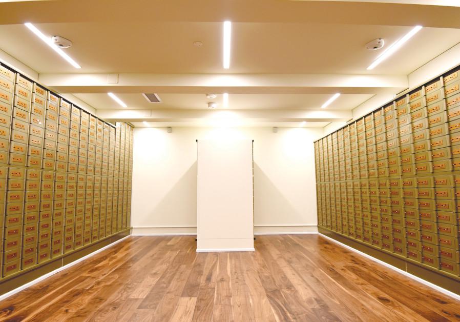 BRICKSTONE'S TEL AVIV safe deposit box center.