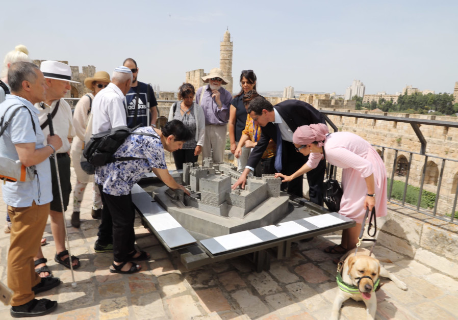 Blind day at the Tower of David Museum