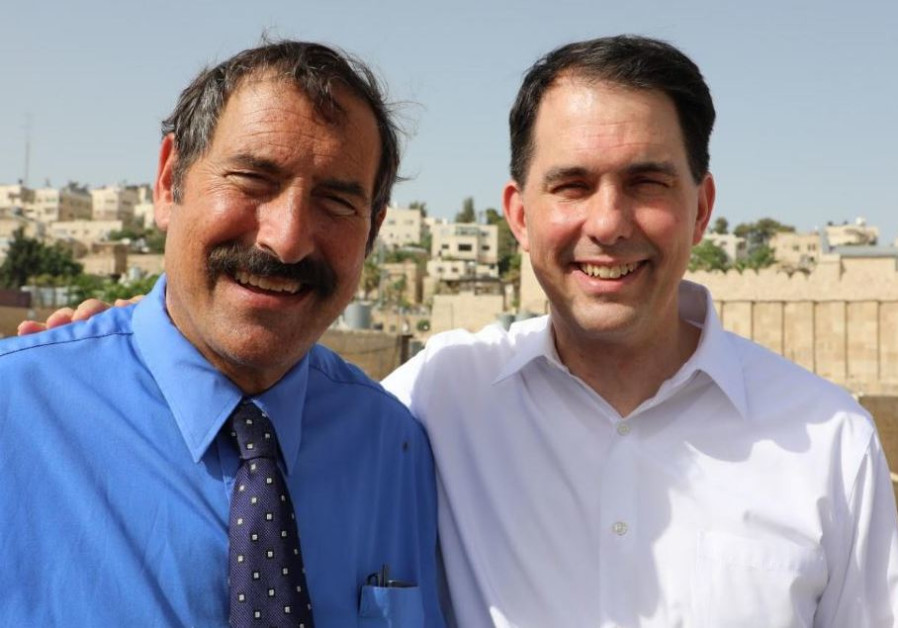 Former Wisconsin Governor Scott Walker with Dr. Joe Frager of the Nation Council of Young Israel du