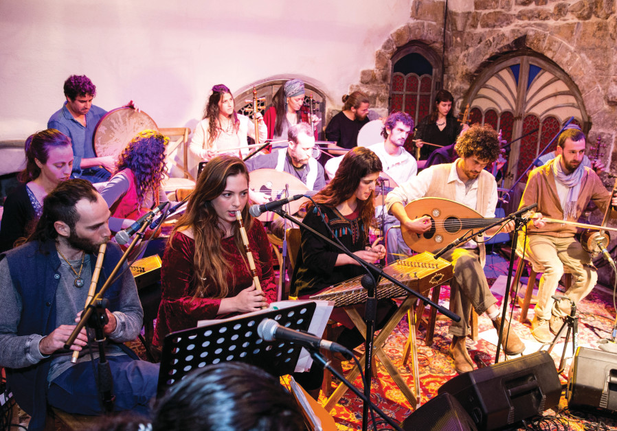 Arabic music party time in Safed