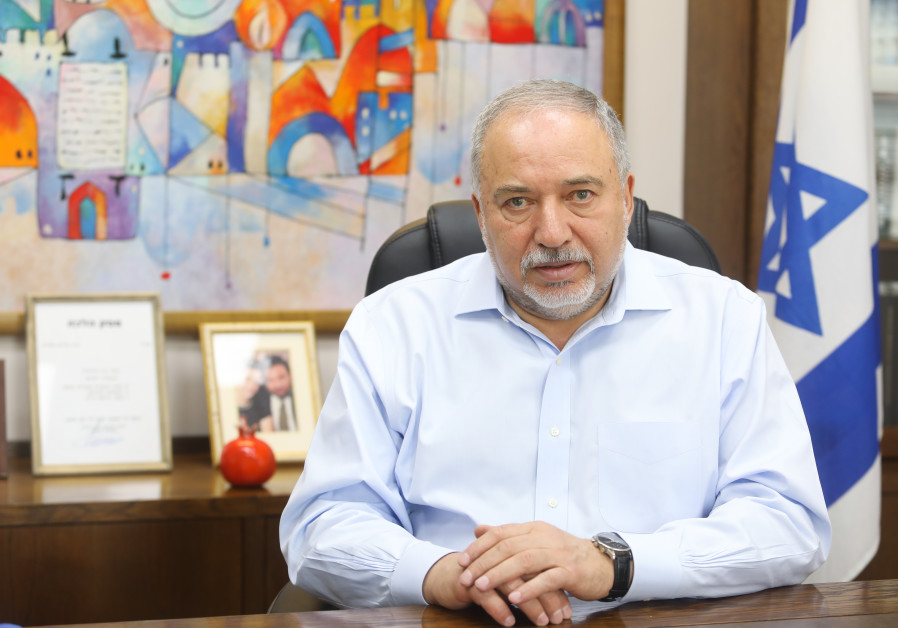 Avigdor Liberman, chairman of Yisrael Beytenu in conversation with the Jerusalem Post