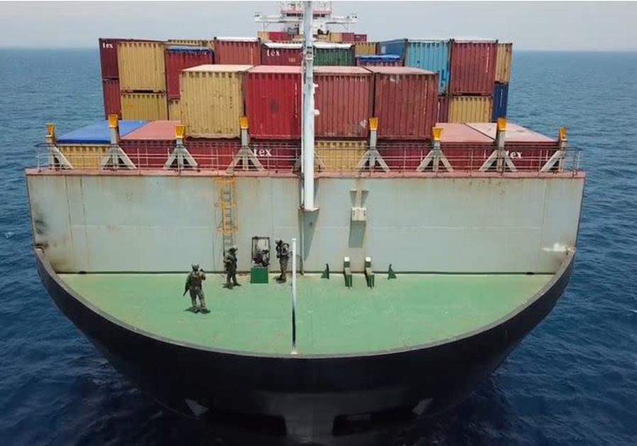Israel Navy arrests stowaway who set fire to Turkish ship in Haifa (Credit: IDF SPOKESPERSON'S UNIT)