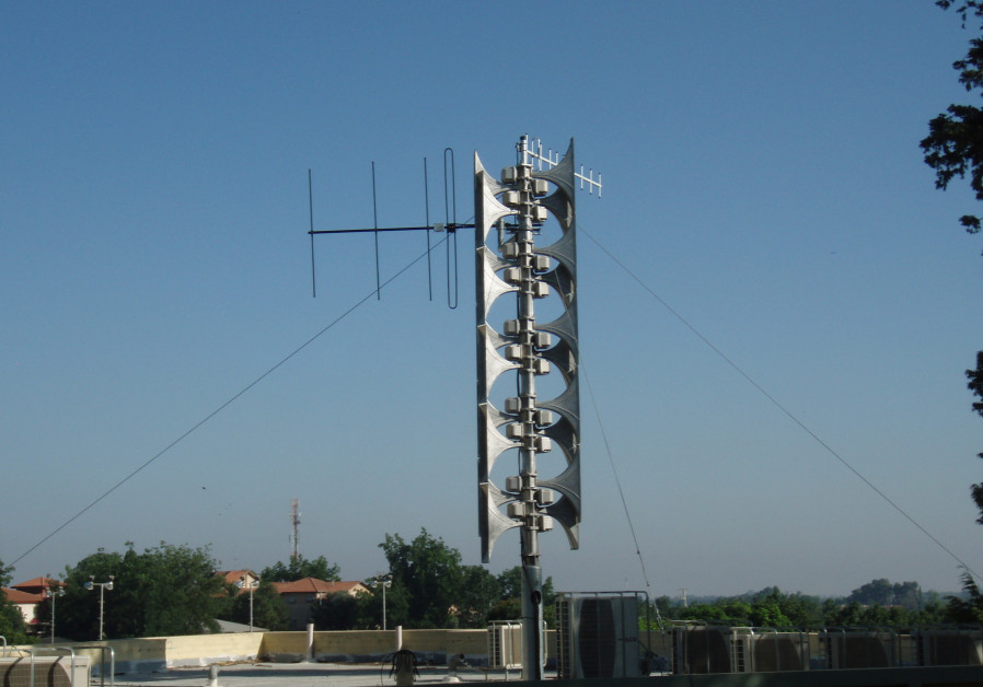 Rocket siren system in Israel