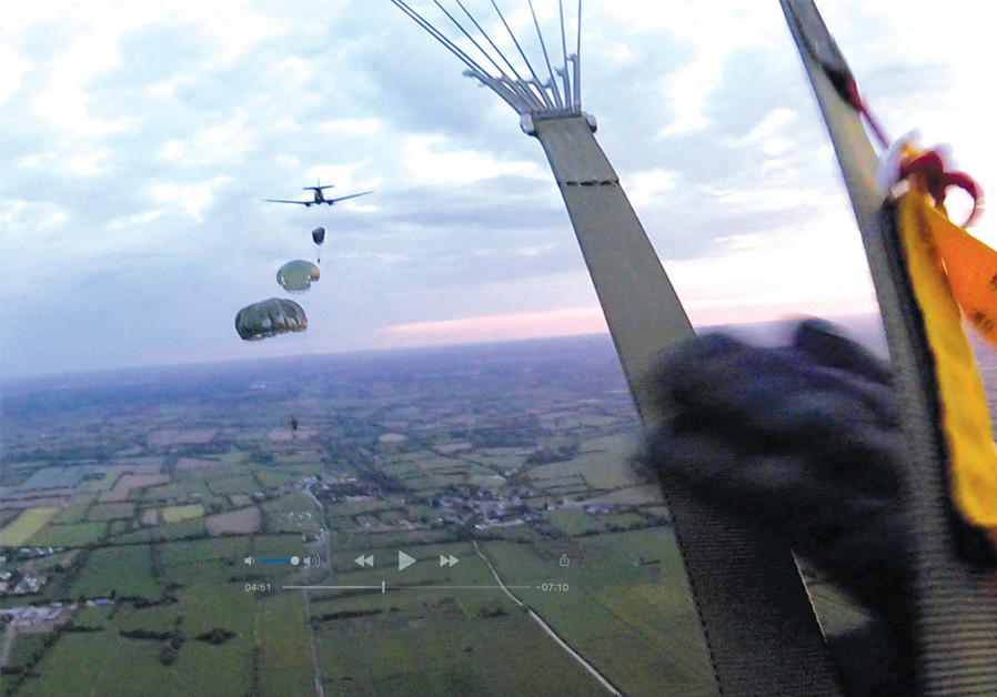 STILL FROM the author's GoPro footage on leaving the aircraft. (Credit: MARK GRANAT)