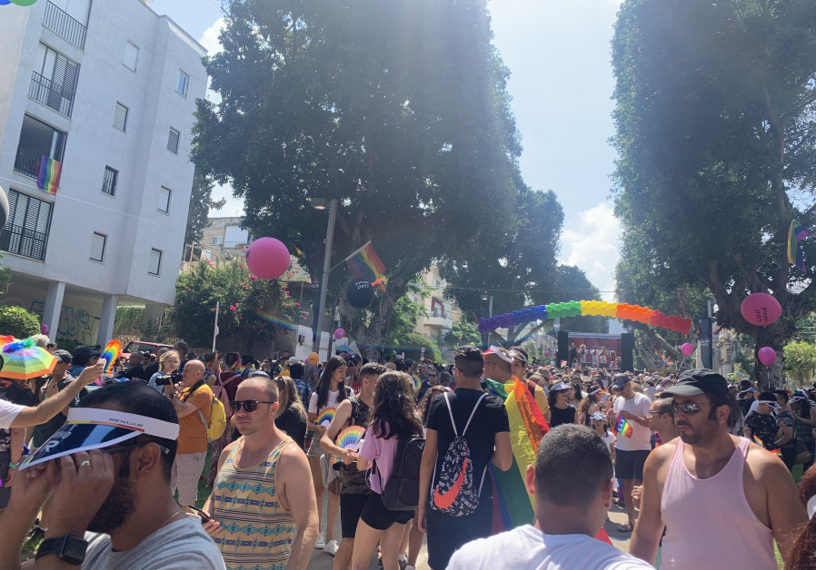 Participants taking part in the Tel Aviv pride parade 2019. (Sydney Dennen)
