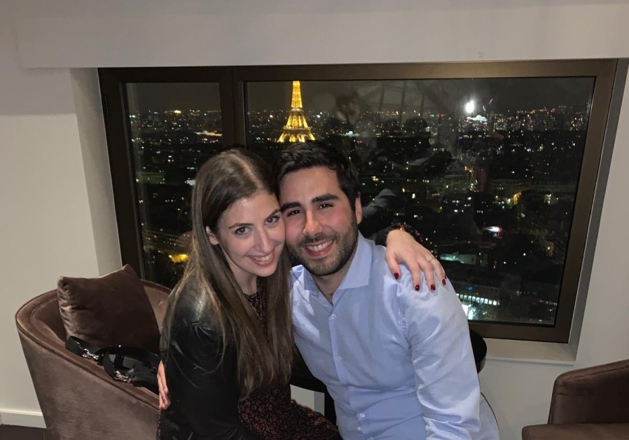 Dana Wrubel from New Jersey and Ethan Amzallag, from Paris, who became engaged after meeting at the Jewish Agency's Ulpan Etzion Absorption Center.